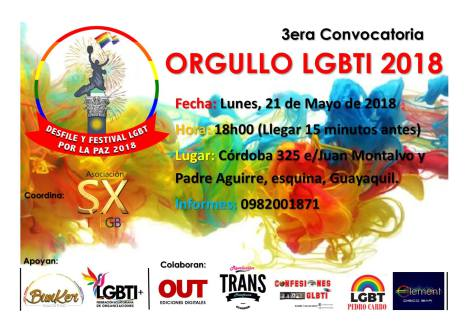 3era-convocatoria-orgullo-lgbti-2018-asociacion-silueta-x-federacion-lgbti-ecuador - ORGULLO GUAYAQUIL 2018