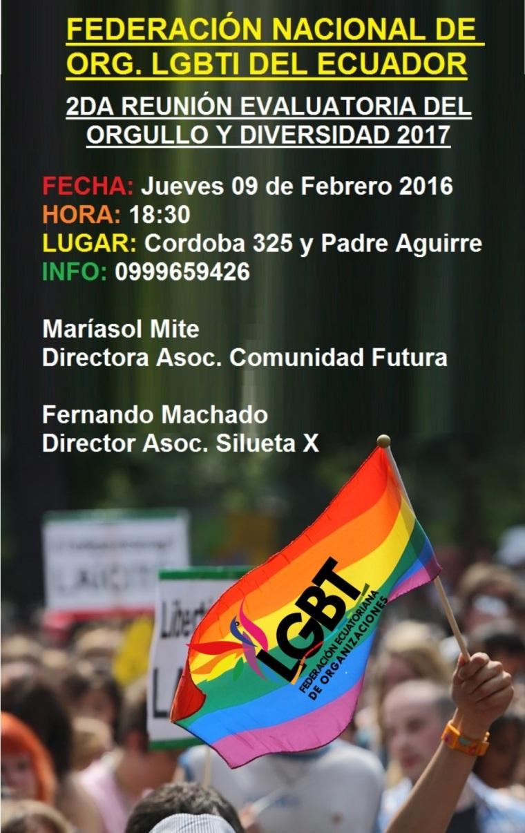 Convocatoria a realizar el desfile y festival del Orgullo y Diversidad Sexual 2017 - Orgullo Guayaquil - Gay Pride Guayaquil Ecuador