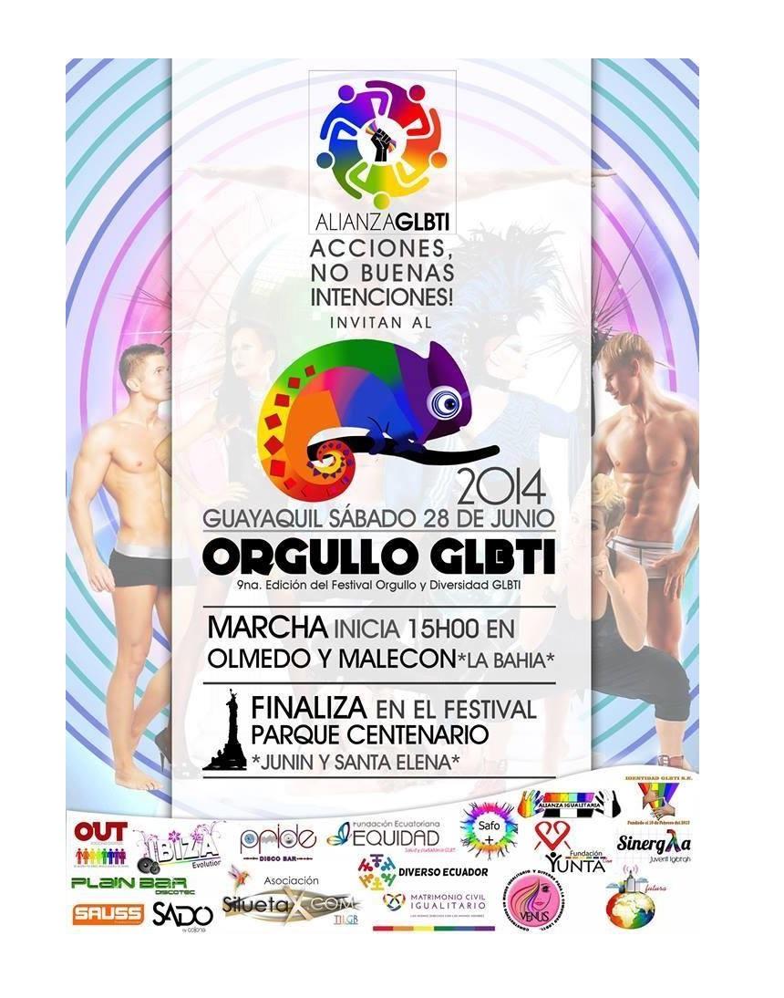 Convocatoria Orgullo Pride Guayaquil, Ecuador - Marcha del Orgullo y Diversidad Sexual 2014