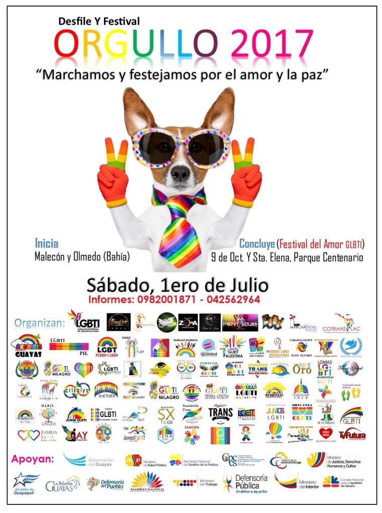 Desfile del Orgullo y Diversidad Sexual 2017 - Orgullo Guayaquil - Gay pride Ecuador