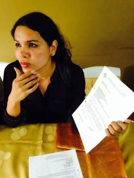 Diane Rodríguez de la Asociación Silueta X en Rueda de Prensa sobre el día del Orgullo Guayaquil - pride guayaquil Ecuador - permisos solicitados al municipio (2)