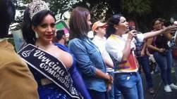 Diane Rodriguez dando el Discurso en el Festival del Orgullo y Diversidad 2016