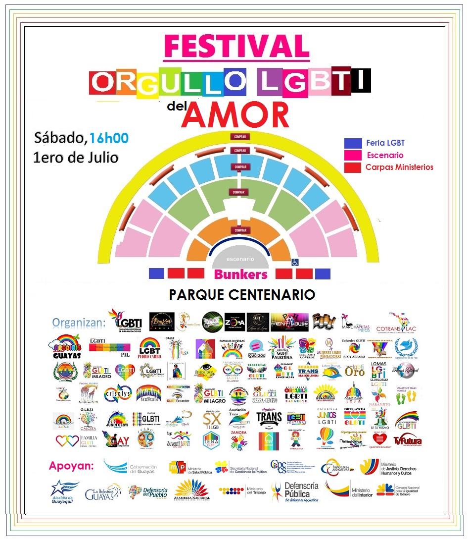 Festival del Orgullo y Diversidad Sexual 2017 - Orgullo Guayaquil - Gay Pride Guayaquil
