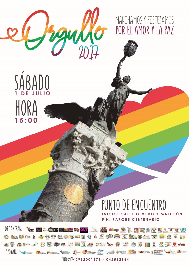 Gay Pride Poster de Cherry Marketing Agency - Orgullo Guayaquil - Gay Pride Ecuador 2017