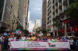 Marcha del Orgullo y Diversidad Sexual 2016 encabezada por la Federación de organizaciones LGBTI Diane Rodriguez y Marcela Aguinaga (3)