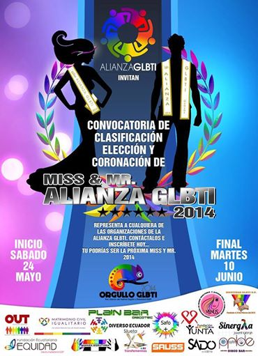 Miss trans ecuador para el orgullo guayaquil 2014