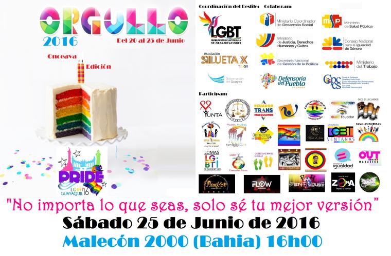 Orgullo Guayaquil - Gay Pride Guayaquil - Ecuador - Orgullo y Diversidad Sexual 2016
