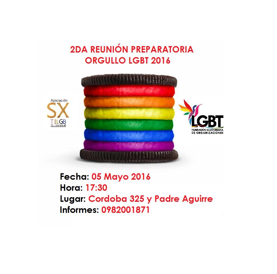 Orgullo Guayaquil - Gay Pride Guayaquil - Ecuador - Reunión Preparatorio Orgullo y Diversidad Sexual 2016