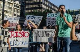 Orgullo Guayaquil - Gay pride Guayaquil - Orgullo LGBT Gay Ecuador Guayaquil 2015 - Evangeliscos protestan