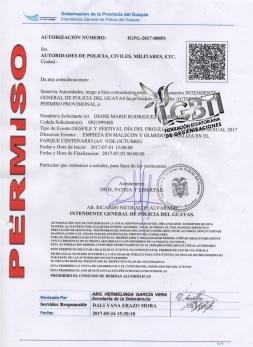 Permiso del Orgullo 2017 intendencia de policia - Orgullo Guayaquil 2017