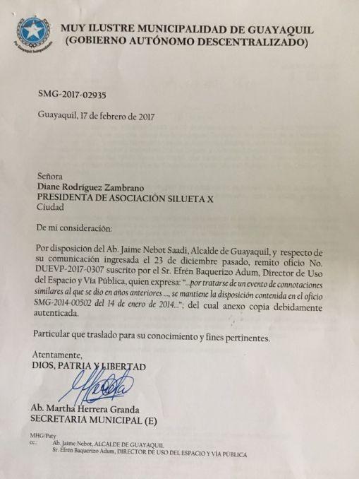 Permiso Final de la Alcaldía del Orgullo 2017 - Orgullo Guayaquil 2017