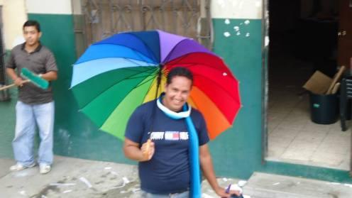 Preparativos del Orgullo Guayaquil o Pride Ecuador Gay 2013 Asociación Silueta X