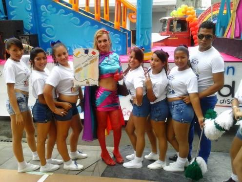 Preparativos del Orgullo Guayaquil pride gay 2014 Asociación Silueta X - Tiempo de Igualdad (8)