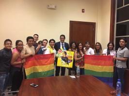Reunión gobernación obtención permisos orgullo guayaquil gay pride ecuador 2017 1