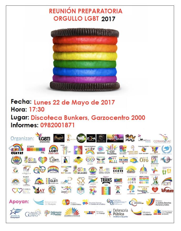Reunión Preparatorio Orgullo y Diversidad Sexual 2017 - Orgullo Guayaquil - Gay pride Guayaquil Ecuador
