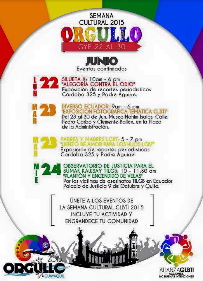 Semana cultural Orgullo Guayaquil 2015