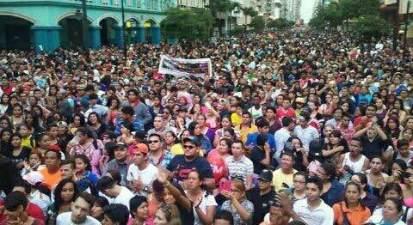 Vista desde la Plataforma del Festival organizada por la Federación Ecuatoriana de Organizaciones LGBTI (1)