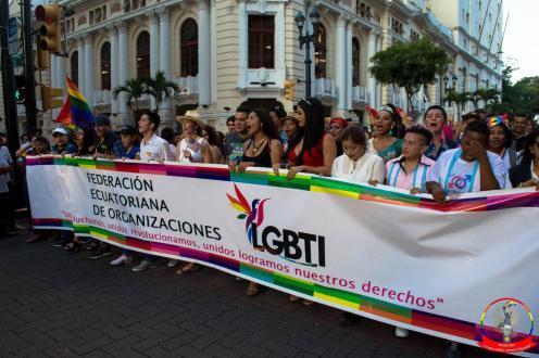 Orgullo guayaquil Gay pride Ecuador 2018 - Asociación silueta x - Federacion LGBT72