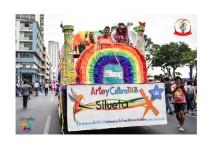 Orgullo Guayaquil - Orgullo gay LGBT 2019 - Carro alegórico Asociación Silueta X