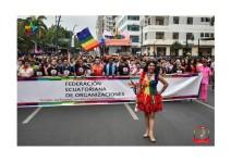 Orgullo Guayaquil - Orgullo gay LGBT 2019 Diane Rodriguez encabezando el Orgullo