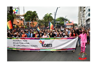 Orgullo Guayaquil - Orgullo gay LGBT 2019 - miembros de la Federación LGBT