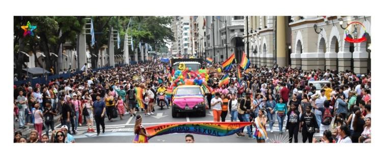 Orgullo Guayaquil - Orgullo gay LGBT 2019 multitud de gente